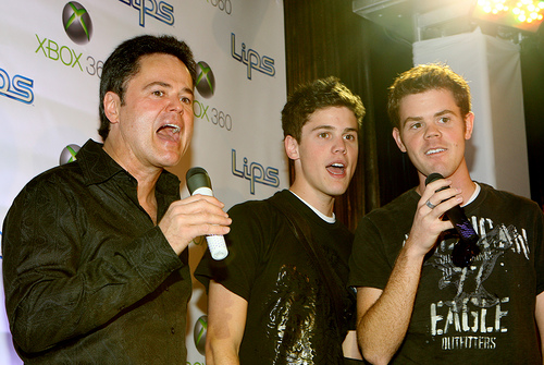 Donny Osmond and his sons sing for the Xbox 360 game Lips