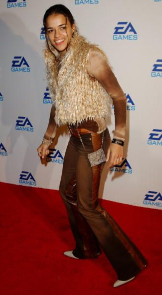 Michelle Rodriguez attending an EA Games launch in Los Angeles.